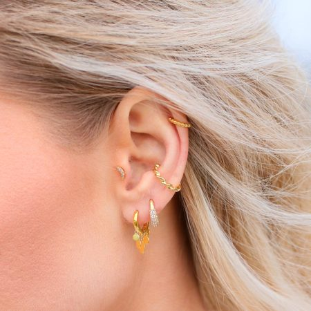 "EARCUFF ""goldplattiert"" Twist"