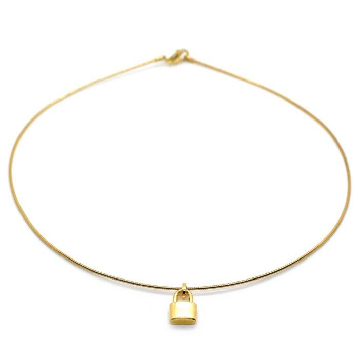"Halskette ""goldplattiert"" Omegareif"