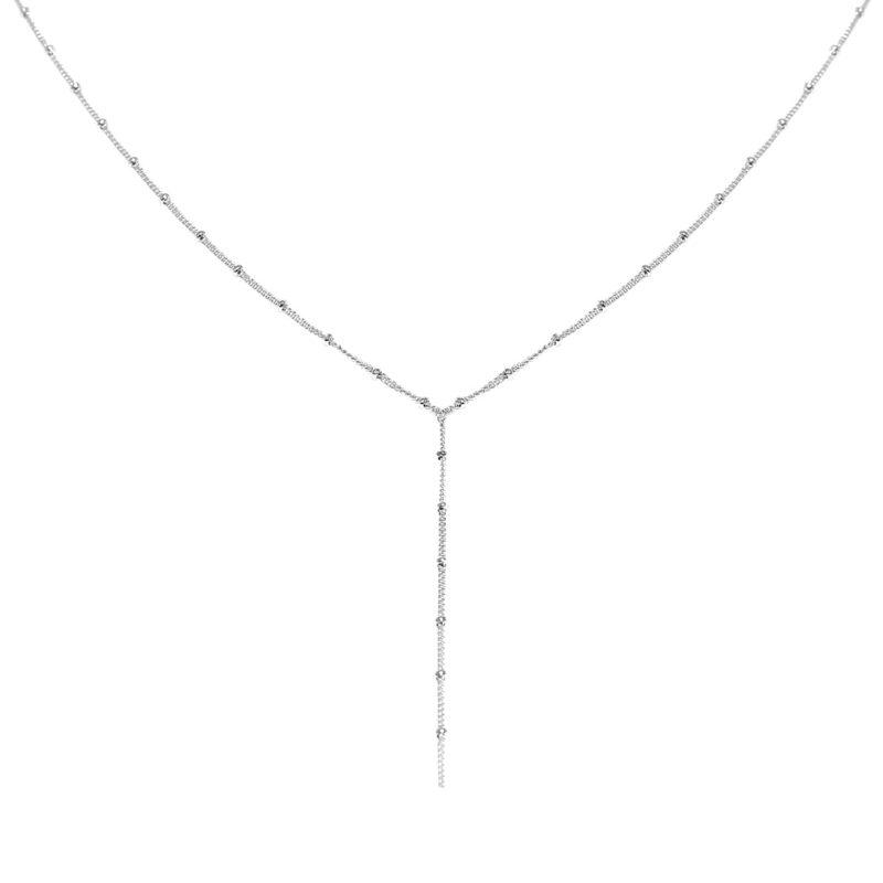 """HALSKETTE """"silber"""" Ypsilon-Design"""
