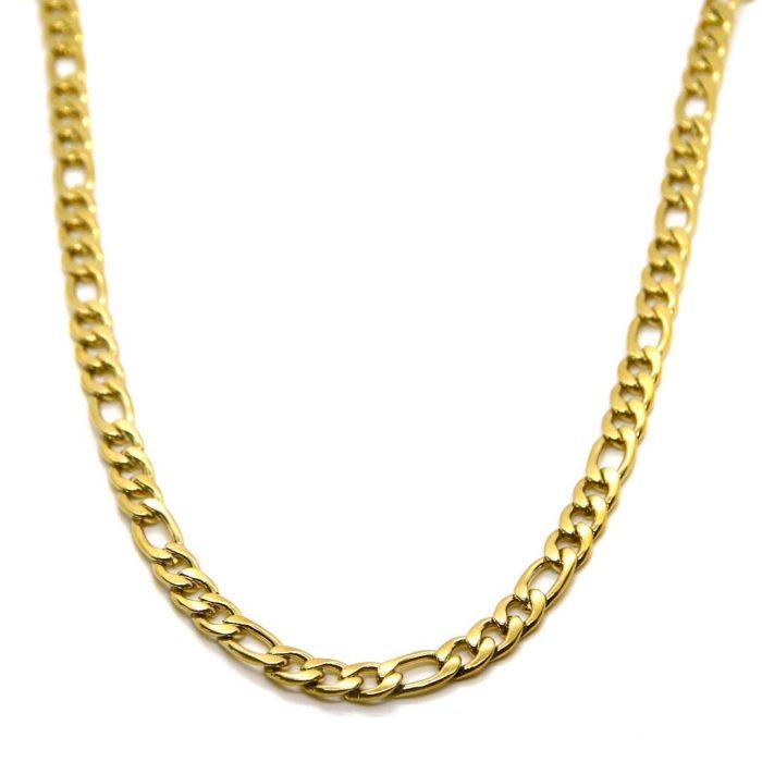 """Halskette """"goldplattiert"""" Figaro bold"""