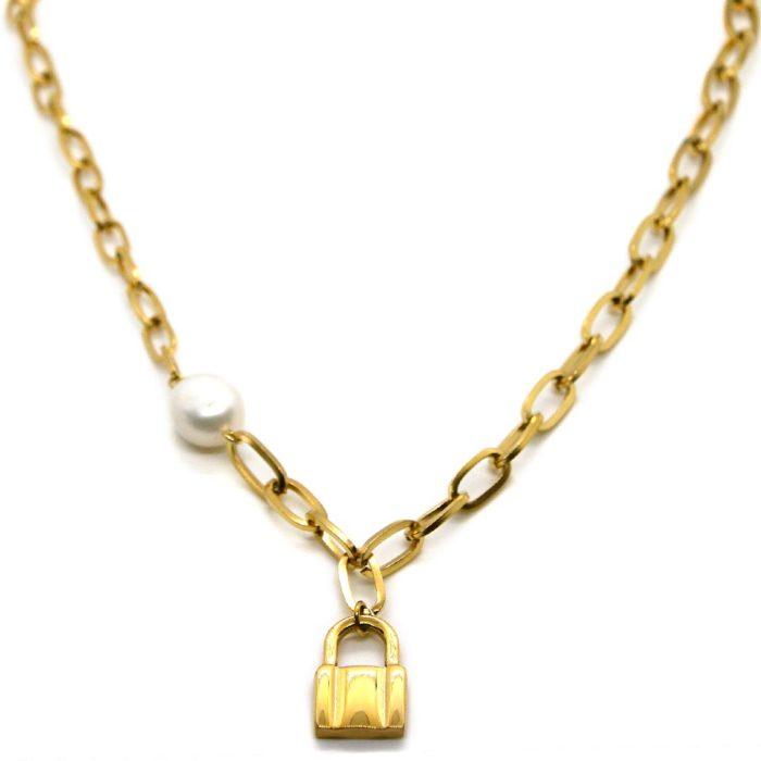 """Halskette """"goldplattiert"""" mit Schloß"""