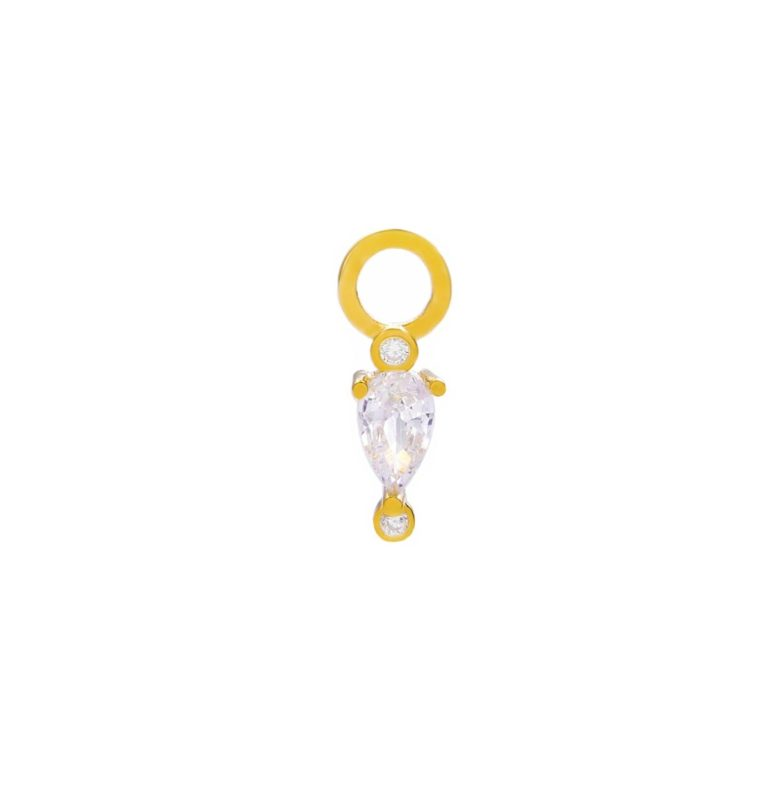 "CHARM ""goldplattiert"" Drop"