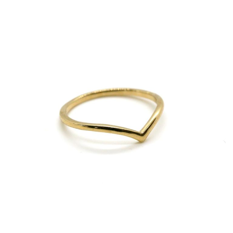 "RING ""goldplattiert"" Wishbone"